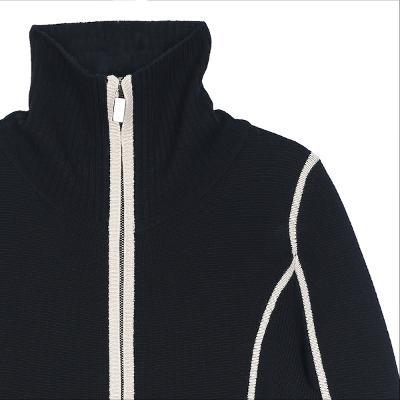 lined zip-up jumper black
