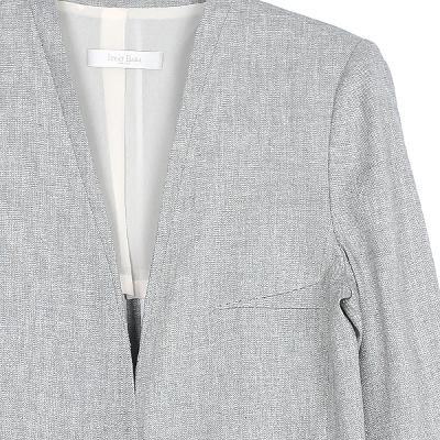 chiffon layered jacket gray