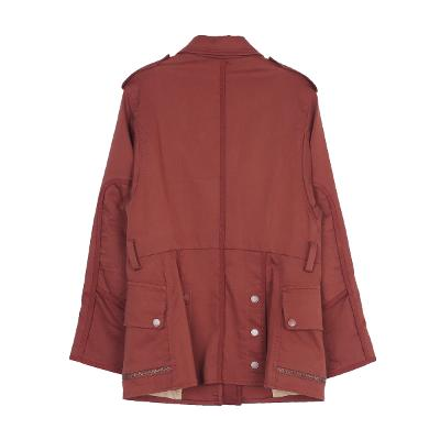 zipper detail jumper brown