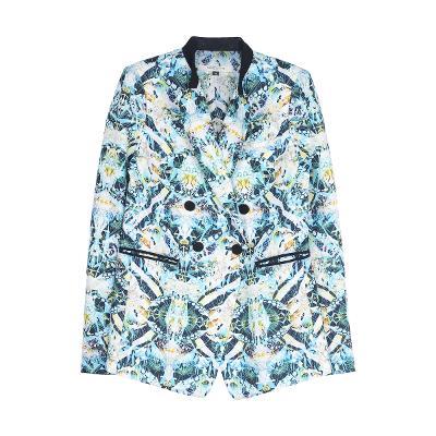 back yoke point double button jacket