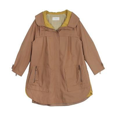 loose round cutting jumper brown