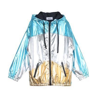 shining color hoodie jumper multi