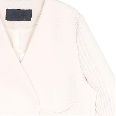ribbon wrap mini jacket ivory