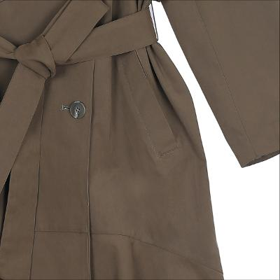 flare trench coat Khaki