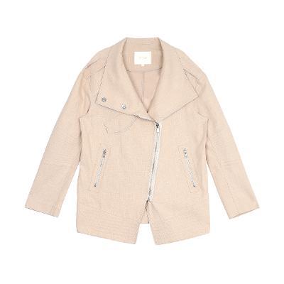 linen rider jacket beige