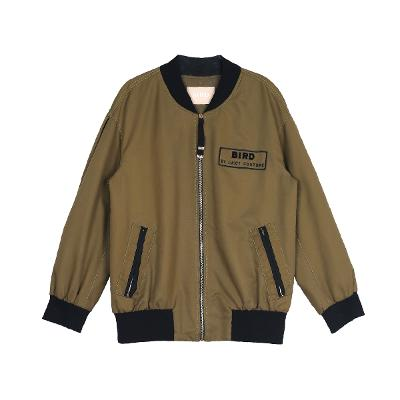 zip-up blouson jumper khaki