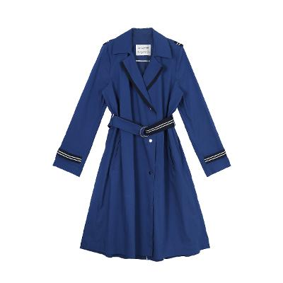 taping pointed coat blue