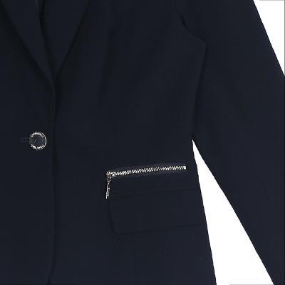 zipper pointed jacket navy