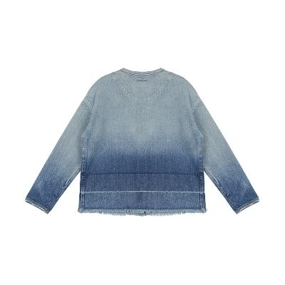 round neck denim jacket