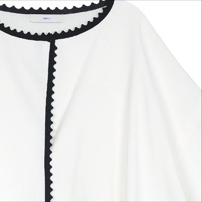line detail drop shoulder jacket