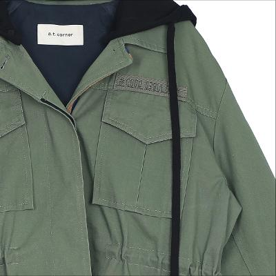 hood safari jacket khaki