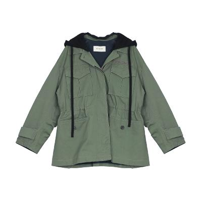 hood safari jacket khaki