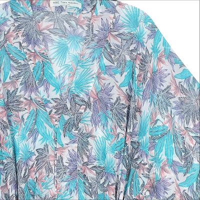 leaf pattern robe blue