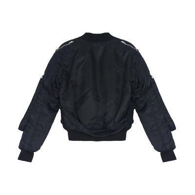 zipper detail blouson black