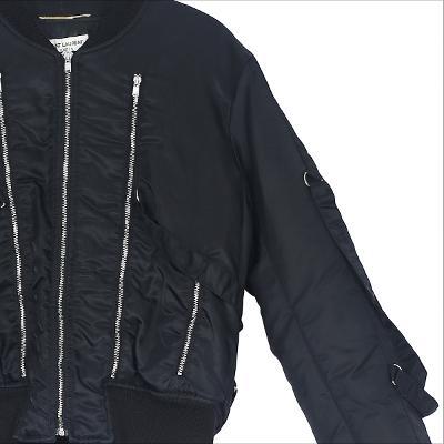 zipper detail blouson black