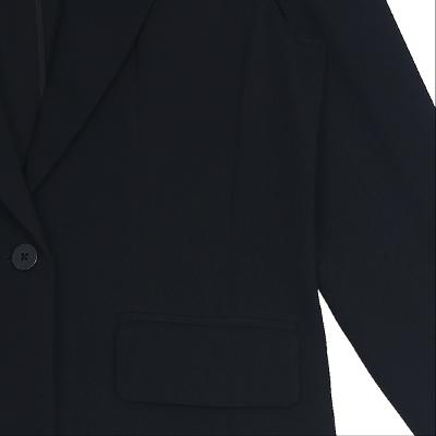 simple one button jacket black