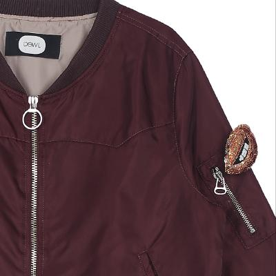 yoke detail blouson brown