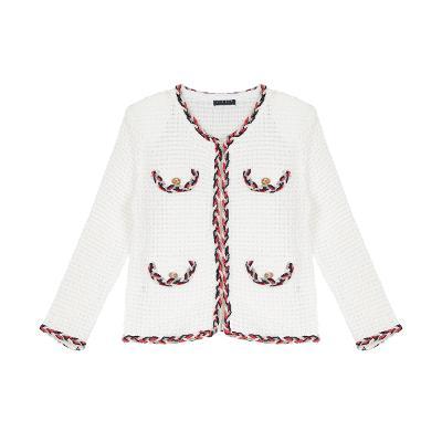 color trimming detail tweed jacket