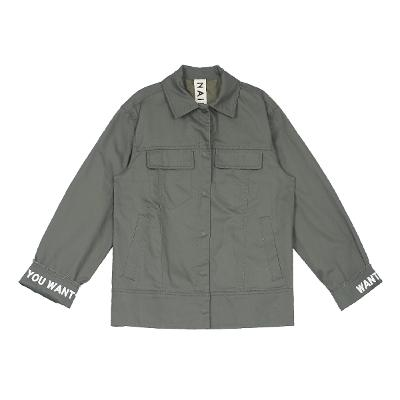 lettering point field jacket khaki