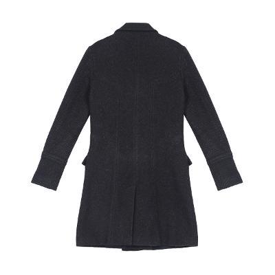 herringbone double button coat