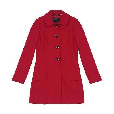 peter pan collar coat red