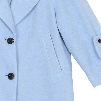 two button point long coat