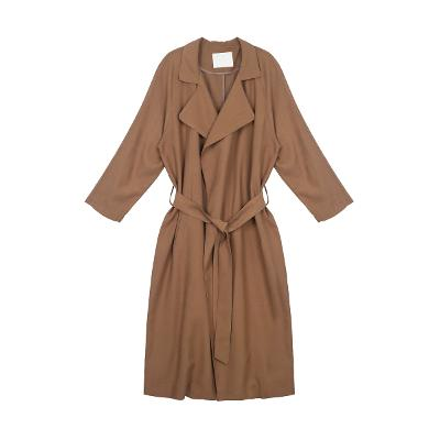 belted raglan sleeve trench coat