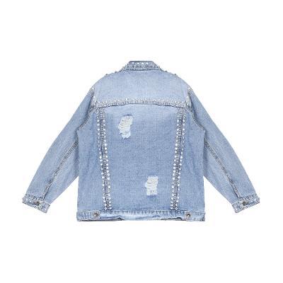 beads detail denim jacket