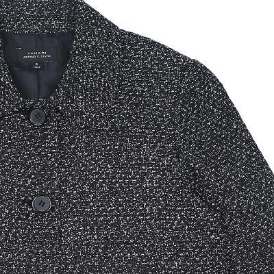 front button crop coat grey