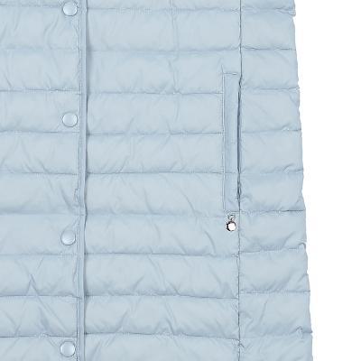 side line padding vest skyblue