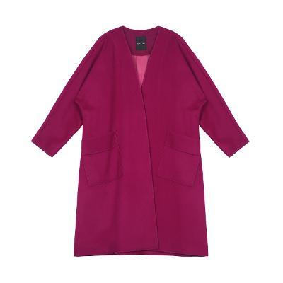dolman sleeve boxy coat