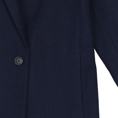 herringbone pattern coat navy