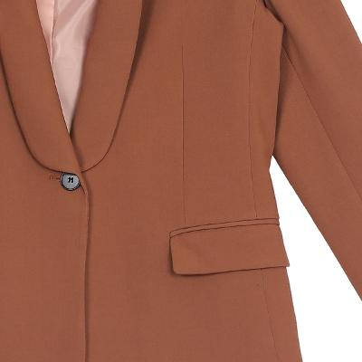 shawl collar jacket brown