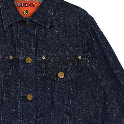 back point denim jacket blue