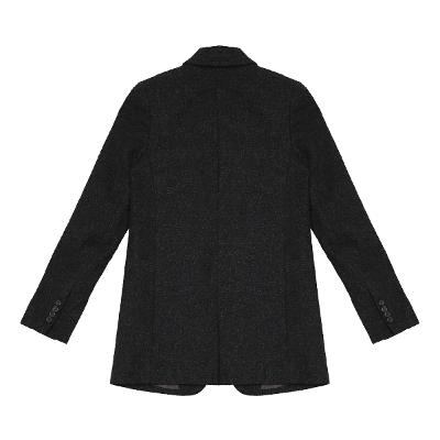 one button wool jacket