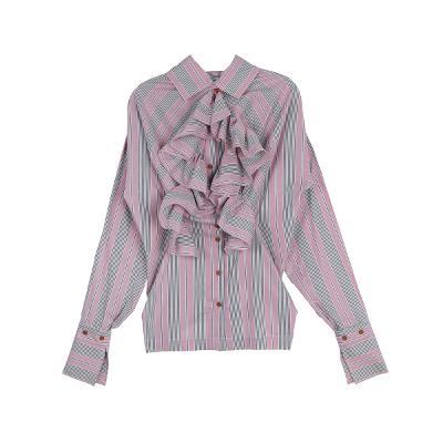 ruffle stripe blouse