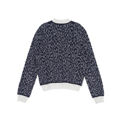 leopard patterned knit