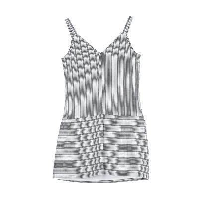 stripe string strap dress