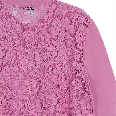 back lace cardigan pink