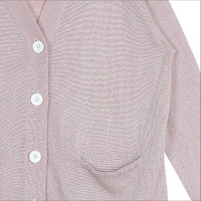 glitter knit cardigan pink