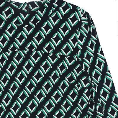 ptterned blouse black