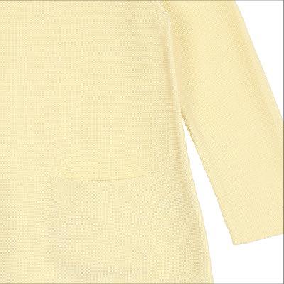 boat neck knit yellow