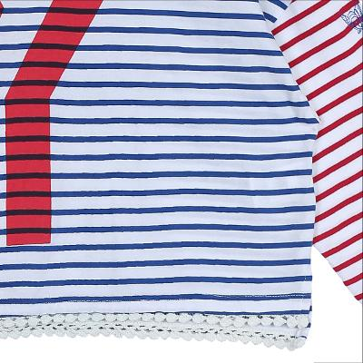 color stripe t-shirts blue