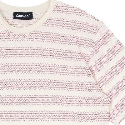 stripe pattern t-shirts red3
