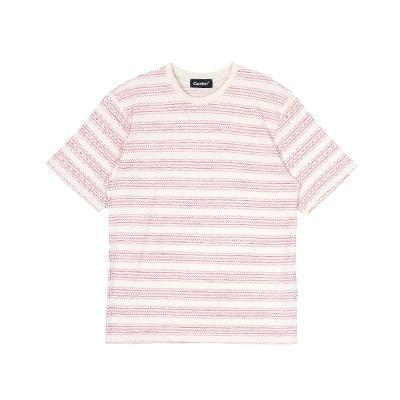 stripe pattern t-shirts red2