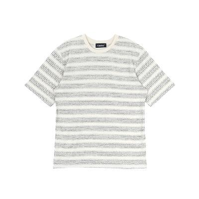 stripe pattern t-shirts black3