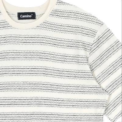 stripe pattern t-shirts black2