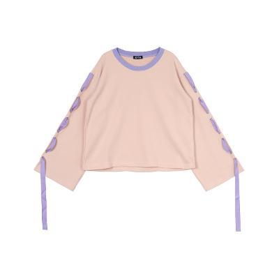 string detail t-shirts pink2