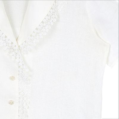 lace pointed collar shirt