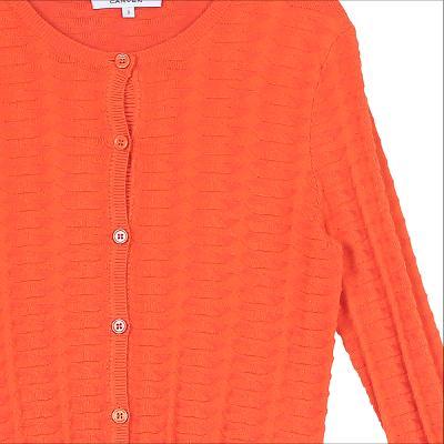 embossing texture cardigan orange